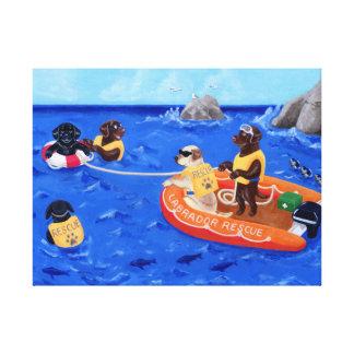 Labrador Rescue Team Canvas Prints