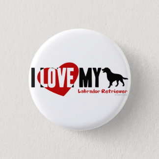 Labrador Retriever 3 Cm Round Badge
