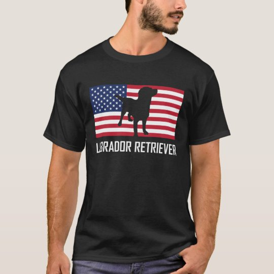 Labrador Retriever American Flag T-Shirt