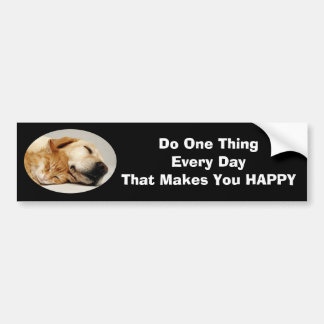Labrador Retriever and Cat Bumper Sticker