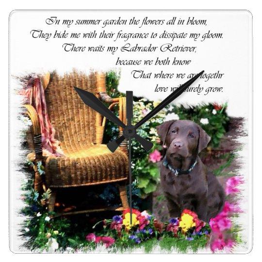 Labrador Retriever Art Gifts Square Wall Clock