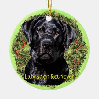 Labrador Retriever Art Round Ceramic Decoration