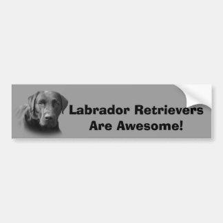 Labrador Retriever Awesome Bumper Sticker