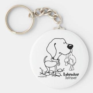 Labrador Retriever - B/W Key Chains