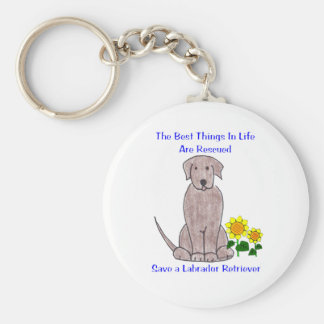Labrador Retriever Best Things In Life Keychain