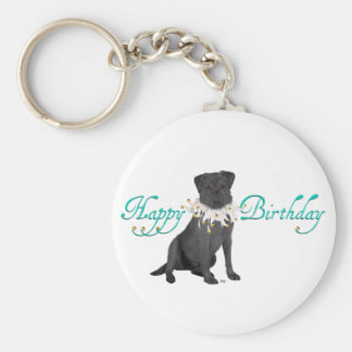 Labrador Retriever Birthday Greetings Basic Round Button Key Ring