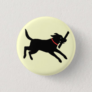 Labrador Retriever (Black) 3 Cm Round Badge