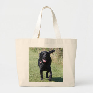 Labrador Retriever black dog beautiful photo, gift Large Tote Bag