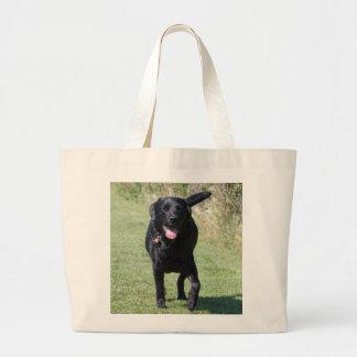 Labrador Retriever black dog beautiful photo, gift Large Tote Bag