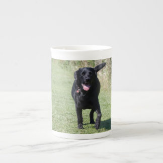 Labrador Retriever black dog beautiful photo, gift Tea Cup