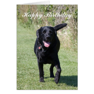 Labrador Retriever black dog custom birthday card