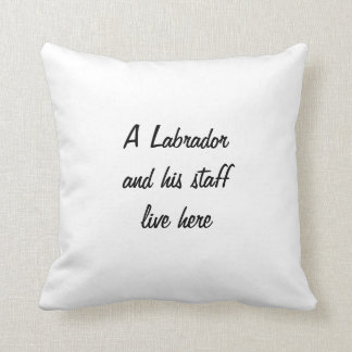 Labrador Retriever black dog photo custom cushion