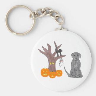 Labrador Retriever Black Fall Keychain