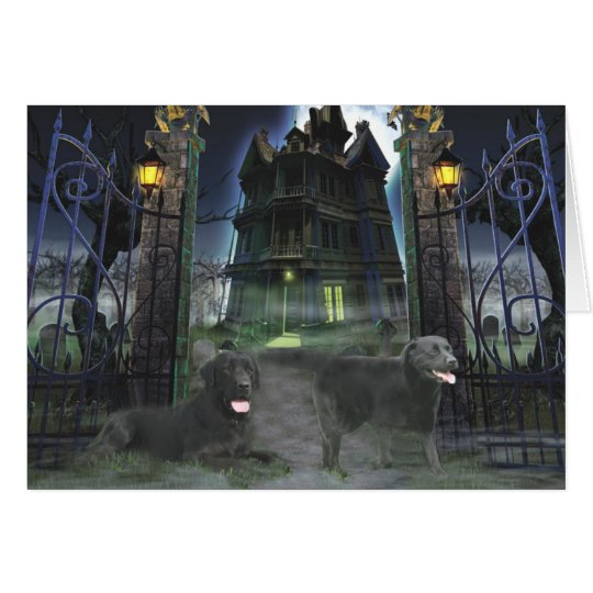 Labrador Retriever Black Halloween Greeting Card