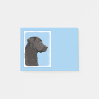 Labrador Retriever Black Painting Original Dog Art Post-it Notes