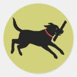 Labrador Retriever (Black) Round Sticker
