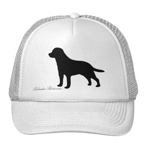 Labrador Retriever black silhouette dog hat, cap