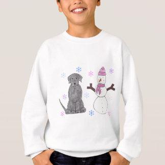 Labrador Retriever Black & Snowman Sweatshirt