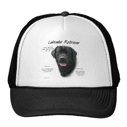 Labrador Retriever (blk) History Design Trucker Hat