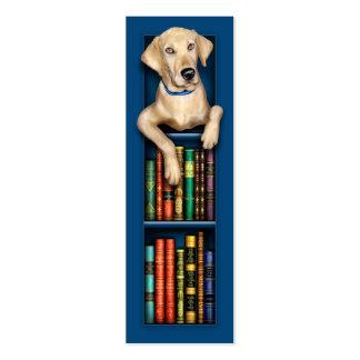 Labrador Retriever Blue Bookmark Pack Of Skinny Business Cards