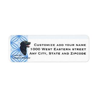 Labrador Retriever Blue Design Return Address Return Address Label