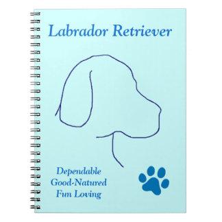 Labrador Retriever-Blue Spiral Notebook