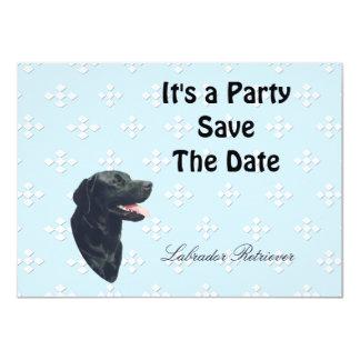 Labrador Retriever ~ Blue w/ White Diamonds 11 Cm X 16 Cm Invitation Card