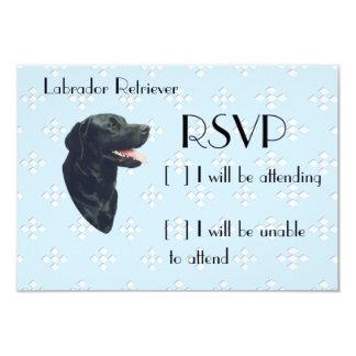 Labrador Retriever ~ Blue w/ White Diamonds 9 Cm X 13 Cm Invitation Card