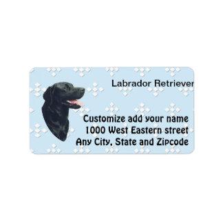 Labrador Retriever ~ Blue w/ White Diamonds Address Label