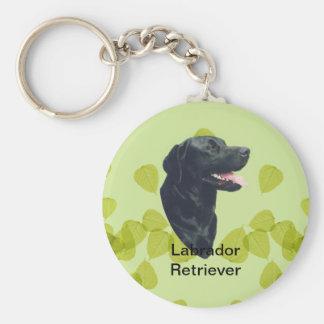 Labrador Retriever ~ Blue w/ White Diamonds Basic Round Button Key Ring
