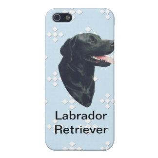 Labrador Retriever ~ Blue w/ White Diamonds Case For The iPhone 5