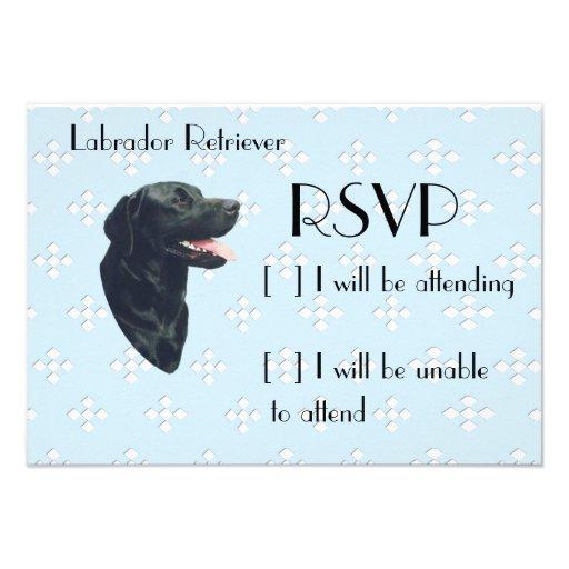 Labrador Retriever ~ Blue w/ White Diamonds Invitation