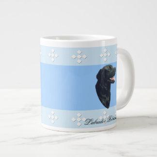 Labrador Retriever ~ Blue w/ White Diamonds Jumbo Mug