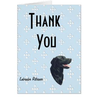 Labrador Retriever ~ Blue w/ White Diamonds Note Card