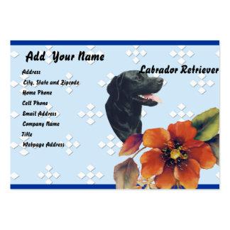 Labrador Retriever ~ Blue w/ White Diamonds Pack Of Chubby Business Cards