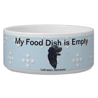 Labrador Retriever ~ Blue w/ White Diamonds Pet Water Bowl