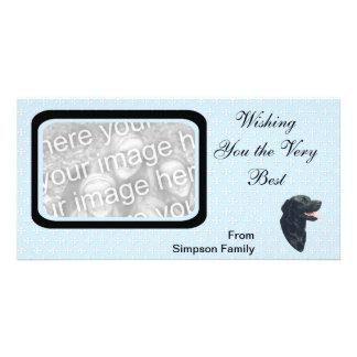 Labrador Retriever ~ Blue w/ White Diamonds Photo Card