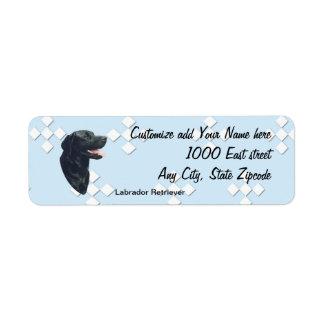 Labrador Retriever ~ Blue w/ White Diamonds Return Address Label