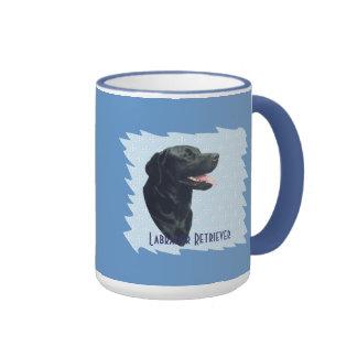 Labrador Retriever ~ Blue w/ White Diamonds Ringer Mug