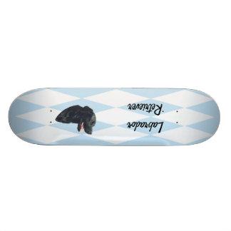 Labrador Retriever ~ Blue w/ White Diamonds Skate Board Decks