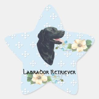 Labrador Retriever ~ Blue w/ White Diamonds Star Sticker