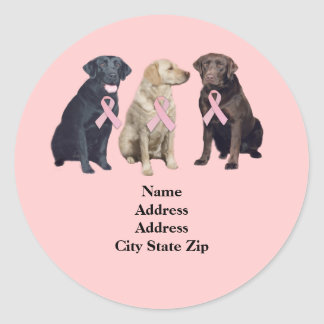 Labrador Retriever Breast Cancer Address Label