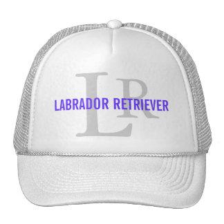 Labrador Retriever Breed Monogram Design Trucker Hats