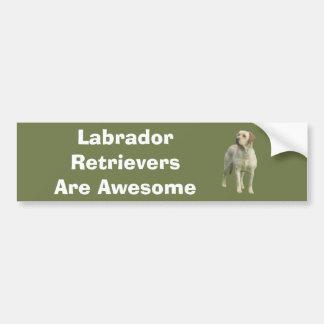 Labrador Retriever Bumper Sticker Car Bumper Sticker