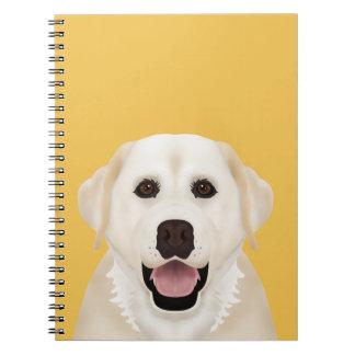 labrador retriever cartoon spiral notebook
