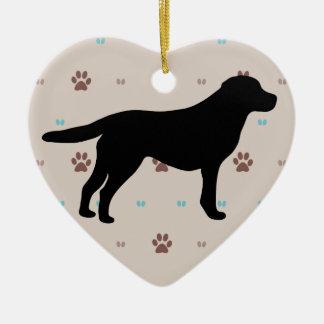 Labrador Retriever Ceramic Heart Decoration