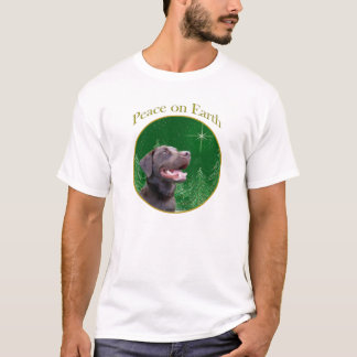 Labrador Retriever (choc) Peace T-Shirt