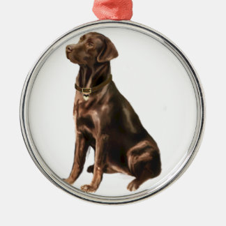 Labrador Retriever - Chocolate 1 Christmas Ornament