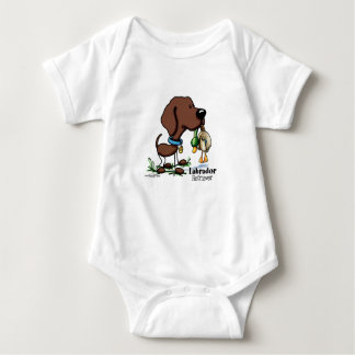 Labrador Retriever - Chocolate Baby Bodysuit