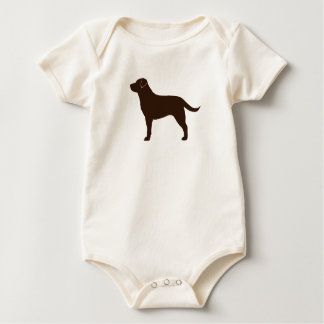 Labrador Retriever (Chocolate) Baby Bodysuit